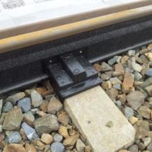 Rail noise absorbers, Prague