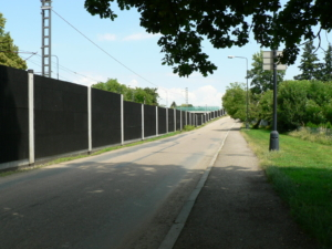 Noise protection walls